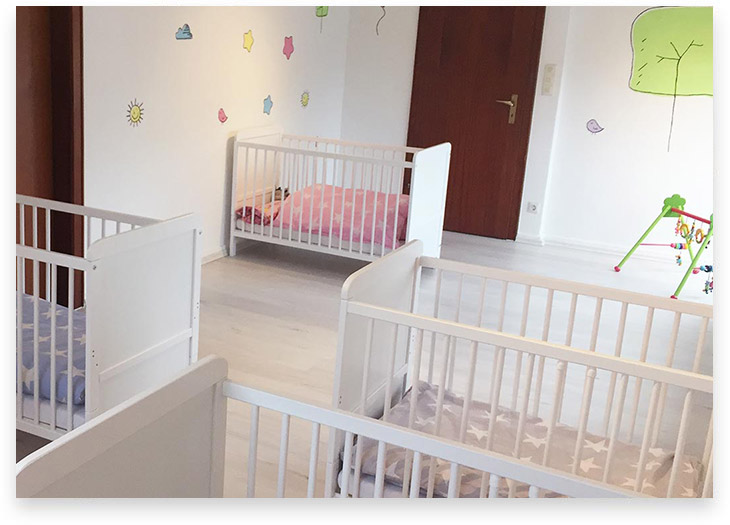 5Stars Kindertagespflege Tagesmutter Lübeck Innenaufnahme Schlafzimmer 1. OG