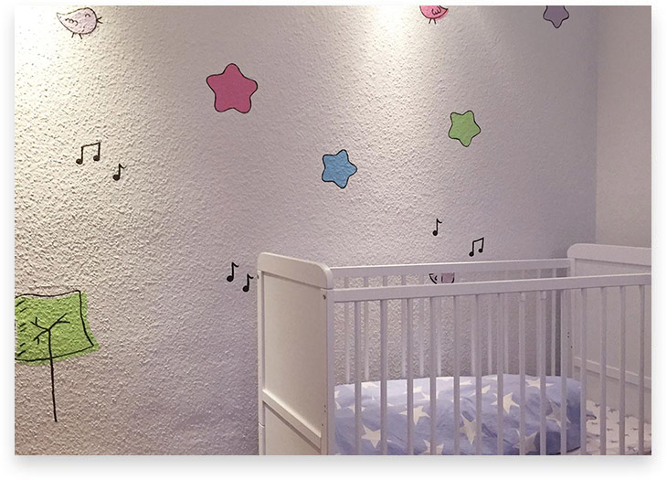 5Stars Kindertagespflege Tagesmutter Lübeck Innenaufnahme Schlafzimmer Keller