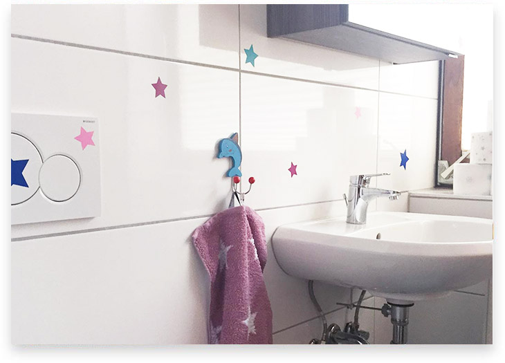 5Stars Kindertagespflege Tagesmutter Lübeck Innenaufnahme kleines WC