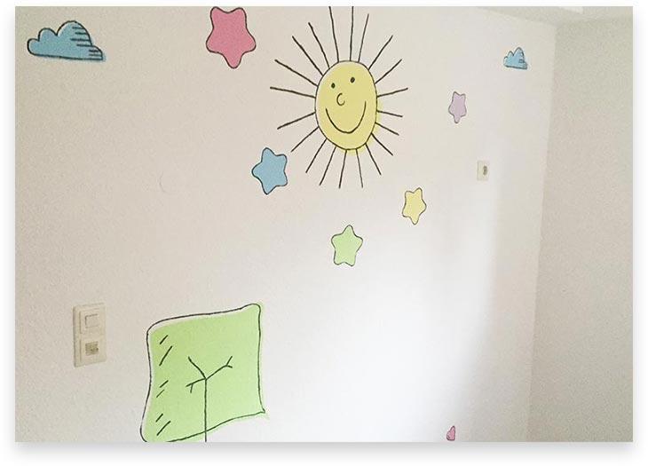5Stars Kindertagespflege Lübeck Innenaufnahme Wandbemalung